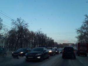 Самая длинная пробка на неделе в Нижнем Новгороде составила почти 6 км