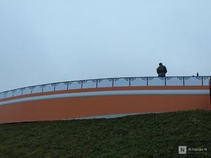 Обрушившийся ярус Чкаловской лестницы закрыли фальшфасадом