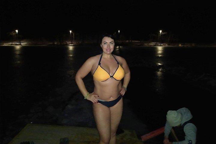 Нижегородцы проводили последнее полнолуние этого года медитацией и купанием в проруби - фото 2