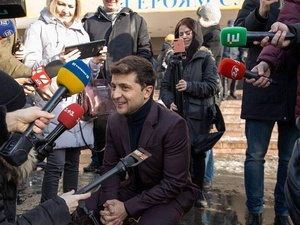 Без пяти минут президент Украины: что известно о комике Владимире Зеленском и его супруге