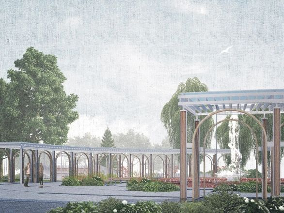 Игровая плошадка-корабль и яблоневый сад: что изменилось в концепции благоустройства площади Буревестника - фото 7