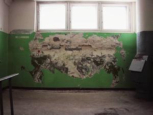 Карту России из сгнившей штукатурки сотворил нижегородский умелец