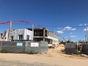 Строительство второго этажа гимнастического зала началось в Заволжье