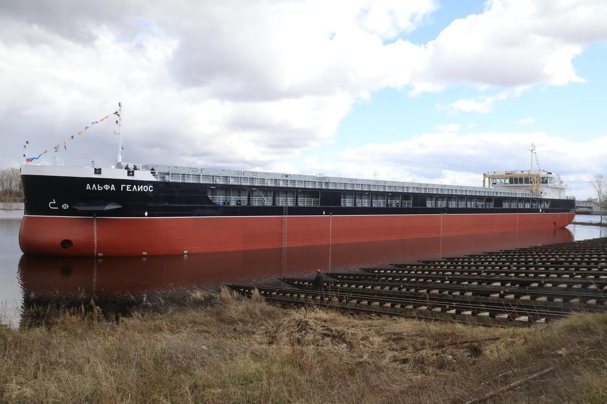 Сухогруз «Альфа Гелиос» сошел на воду в Нижнем Новгороде - фото 1