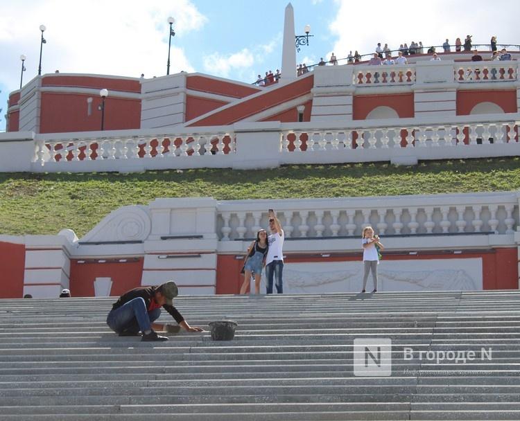 Чкаловскую лестницу открыли, несмотря на продолжающиеся работы - фото 1