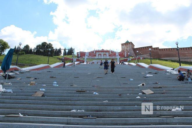 Чкаловскую лестницу открыли, несмотря на продолжающиеся ремонтные работы - фото 56