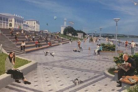 Работы по благоустройству Нижне-Волжской набережной завершены на 66%