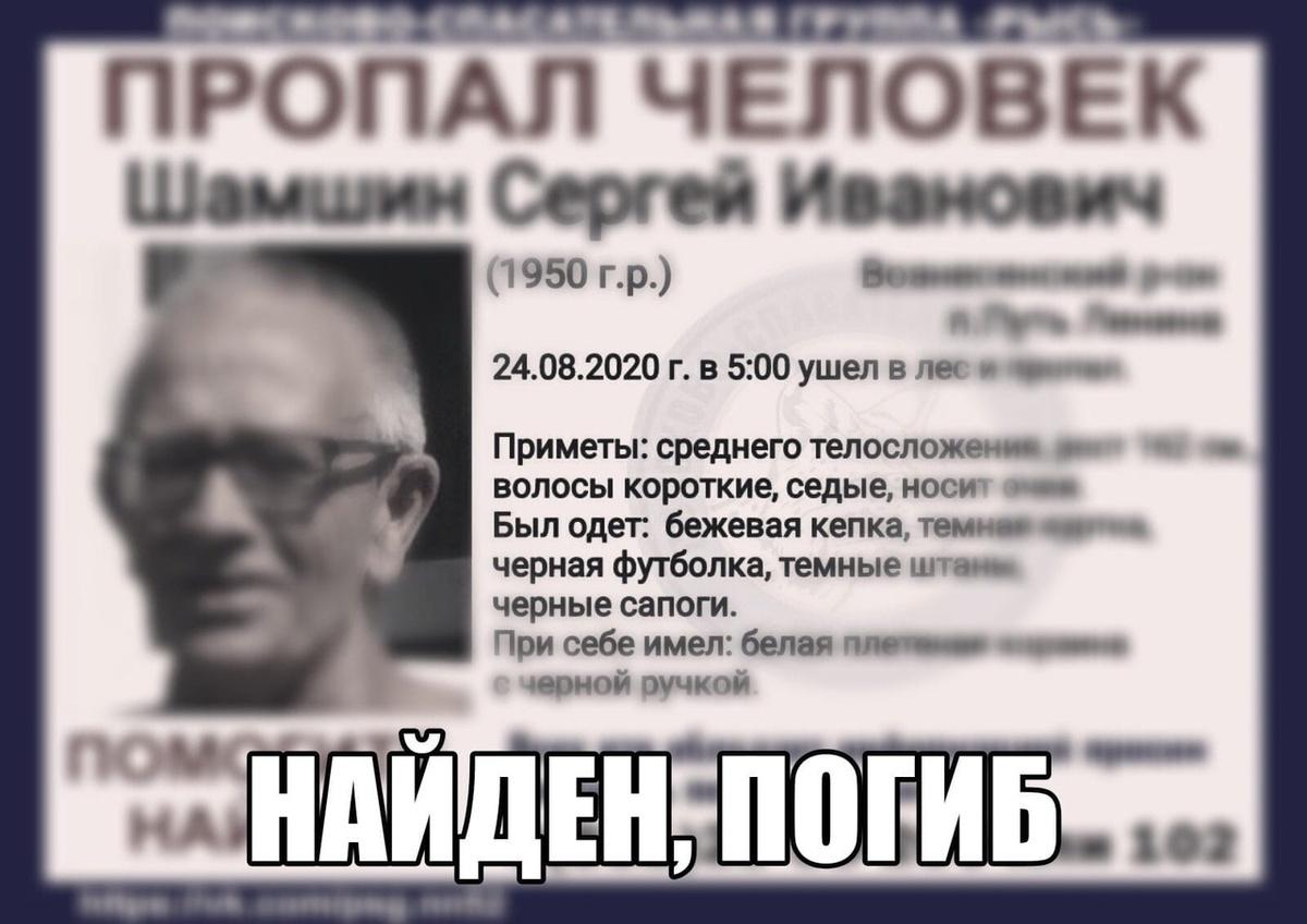 Пенсионера, которого наделю искали в Вознесенском районе, нашли погибшим - фото 1