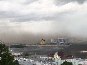 Ураган накрыл стадион «Нижний Новгород» (ВИДЕО)