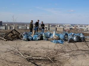 С территории будущего парка «Горки» в Нижегородском районе вывезли 500 мешков мусора
